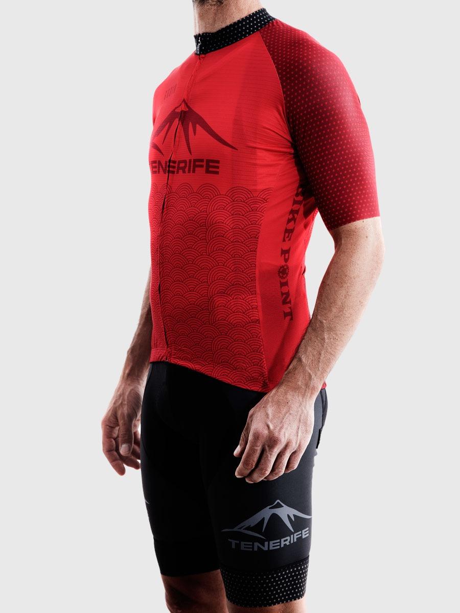 Gobik Male Red Jersey Maillot Left Bike Point Tenerife Bike Hire & Bike Rental