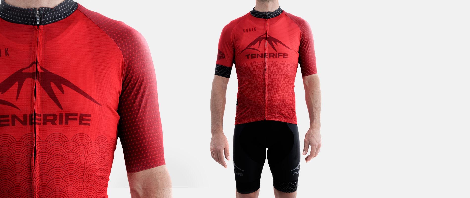 Gobik Male Red Jersey Maillot Splash Bike Point Tenerife Bike Hire & Bike Rental