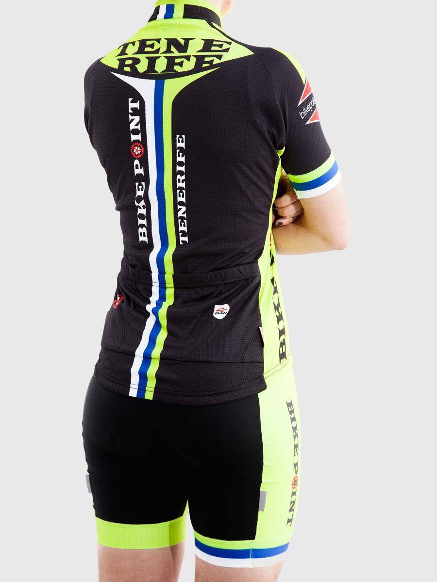 Bike Point Female Back Green Jersey Right Bike Point Tenerife Bike Hire & Bike Rental