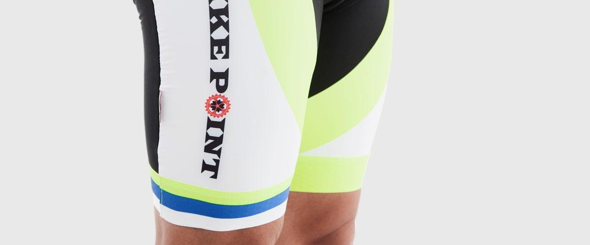 Bike Point Male Black Yellow Bib Shorts Bottom Left Bike Point Tenerife Bike Hire & Bike Rental