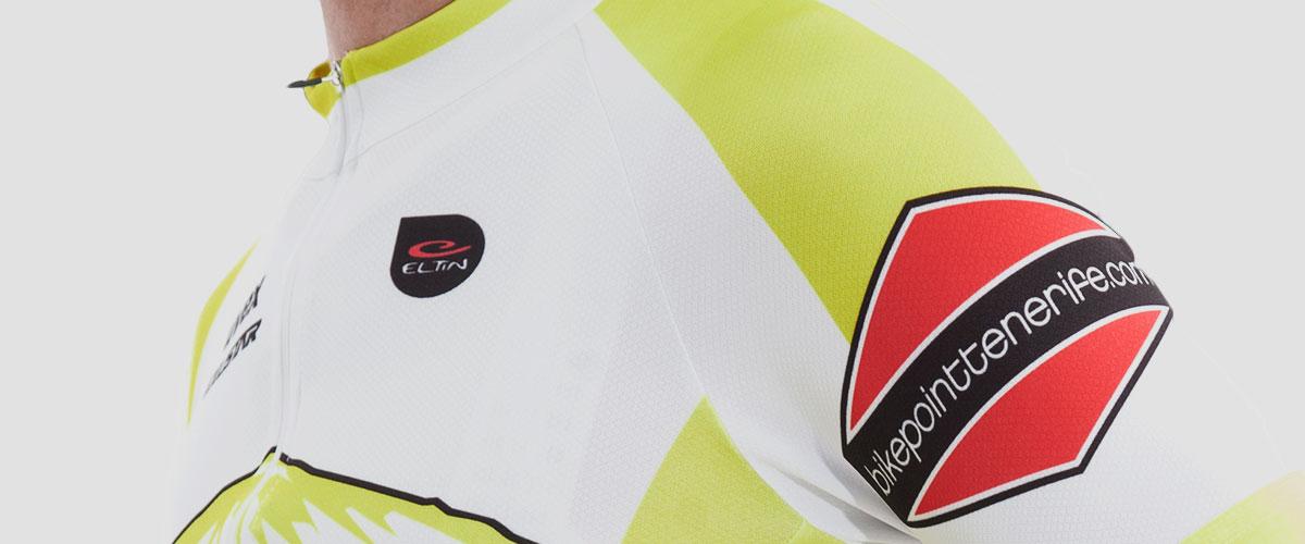 Bike Point Male White Yellow Jersey Bottom Left Bike Point Tenerife Bike Hire & Bike Rental