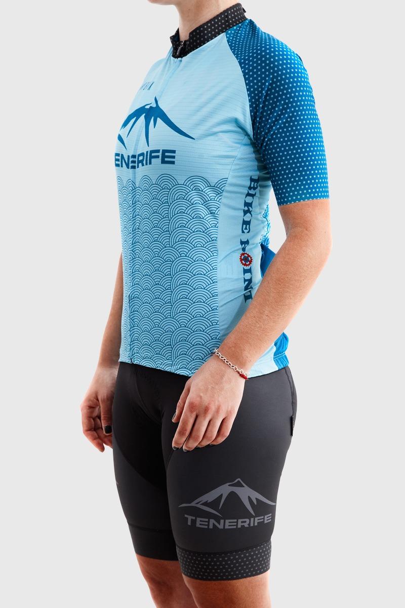 Gobik Blue Jersey Left Bike Point Tenerife Bike Hire & Bike Rental