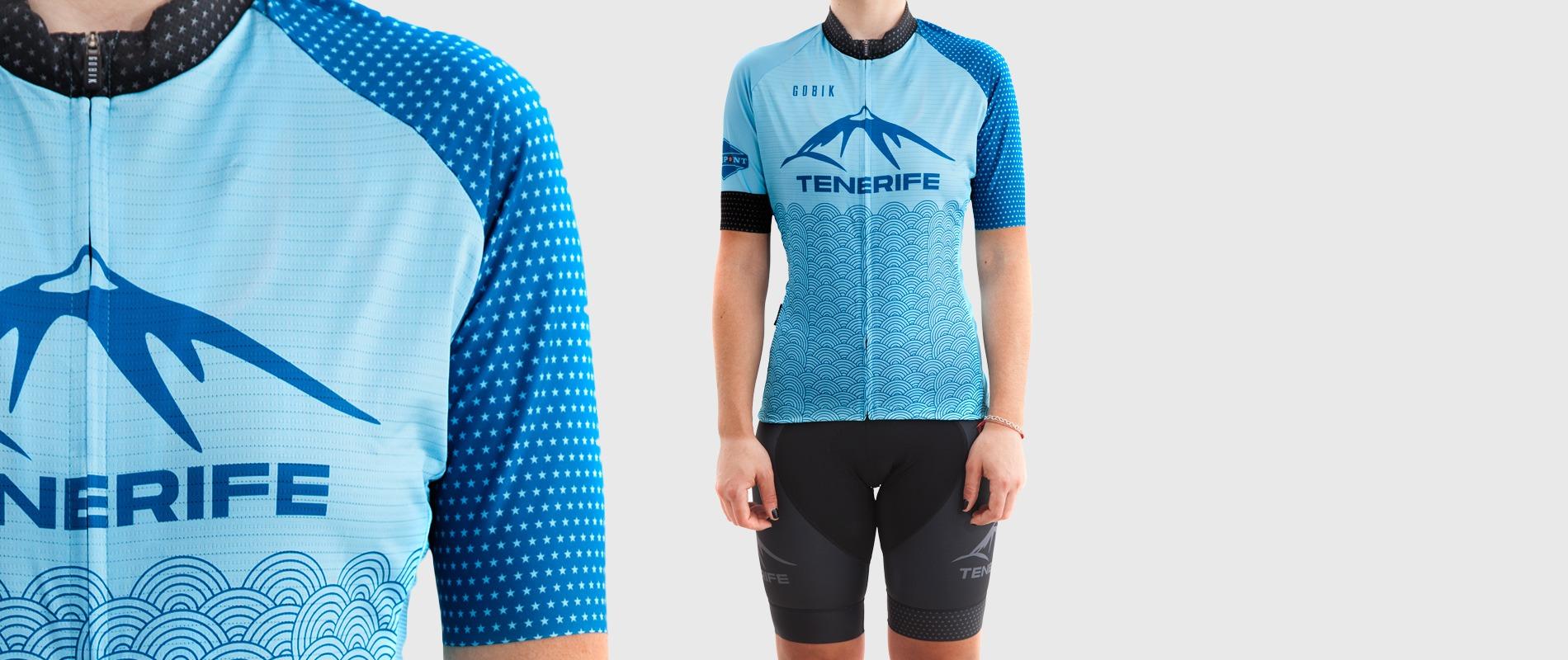 Gobik Blue Jersey Splash Bike Point Tenerife Bike Hire & Bike Rental
