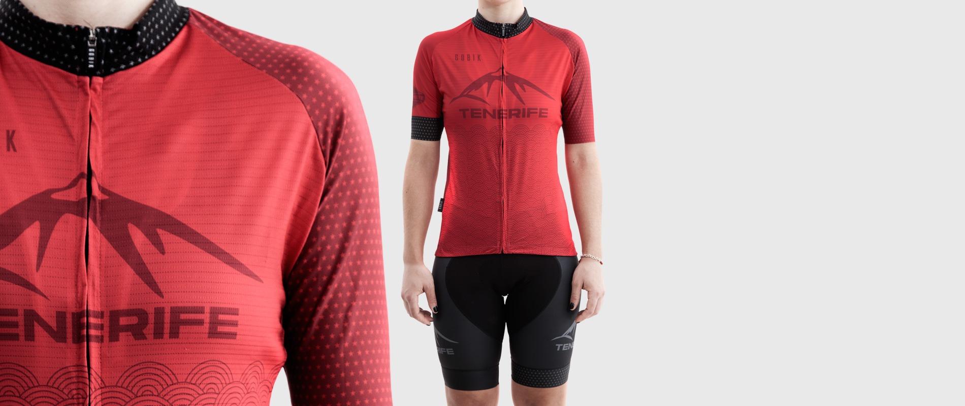 Gobik Female Red Jersey Splash Bike Point Tenerife Bike Hire & Bike Rental